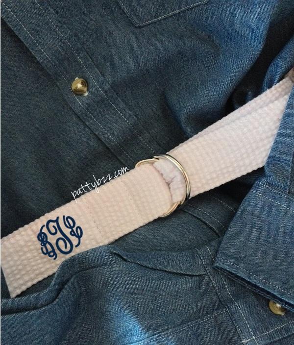 Monogram Seersucker Belt-monogram seersucker belt, preppy belt, gift idea for girls, gift idea for guys, christmas, seersucker glitter belt, monogram belt, seersucker, colors, preppy, hipster