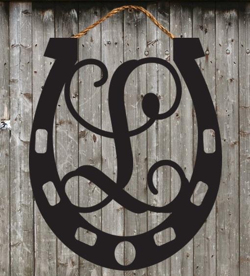 Beau Horseshoe Door Hanger   Derby Door Hanger   Welcome Sign   Wall Hanger