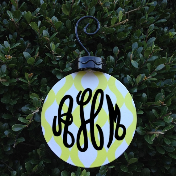 Metal personalized christmas ornaments my