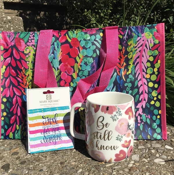 Gift Bundle - Be Still and Know -  Decal - Gift Bag-inspirational coffee cup, coffee cup, be still and know, floral 19 oz mug, floral mug, coffee mug, inspirational coffee mug, floral cup, mothers day, drinkware, mugs, teacup, tea cup, tea mug, house warming gift, dog mom coffee cup, dog mom coffee mug, dog mom, ceramic mug, 19 oz mug, 19 oz cup, ceramic cup, gift bundle, be still and know