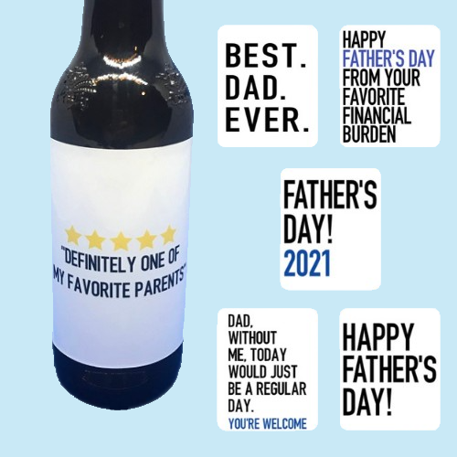 Beer Labels Gift Set-funny sayings to place on beer bottles sold in sets of 6