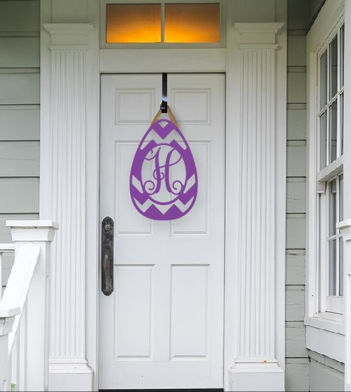Easter Egg Hanger - Door Hanger - Wood Door Hanger - Easter Decoration-Easter Egg hanger, door hanger, wood monogram hanger, wood design, single initial wood monogram, monogram, single initial, pattybzz, personalized wood, Home Living, Home Decor, Ornaments, Accents, monogram door hanger, door hanger painted monogram, wedding, wedding gift, wood monogram, monogram, initial door hanger, wood monograms, Wedding monogram, new home sign, welcome sign, wedding gift, wood door hanger, Easter decoration, welcome sign