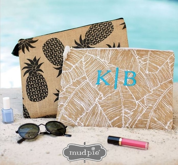Clutches - Monogram Cosmetic Bag - Custom Cases - Tropical Clutch - Bridesmaid Gifts-custom cases, jute clutches, clutch bags, makeup bag, cosmetic bag, cases, monogram case, monogram fit, monogram jute carry all case, personalized wet bikini bag, wet bikini bag, clutch, monogram bridesmaid gift, personalized bag, personalized jute case, tablet case, iPad case, monogrammed clutch, bridesmaid cosmetic bag, wedding gift idea, monogrammed stuff, personalized cosmetic bag, bridesmaid gift bags, monogram items for gifts, monogram gift, personalized gift bags, customised bags, mud pie, tropical case, black pineapple, white palm frond, bridesmaid gifts