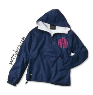 Monogrammed Rain Jacket - Fully Lined-pullover, waterproof rain jacket, customized pullover, personalized, monogrammed rainjacket, custom monogram rainjacket, college student jacket, errands, classic pullover monogrammed, pullover, bridesmaid gifts, college rain jacket, rain coat, wind proof rain jacket