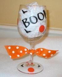 Halloween Wine Glass-personalized custom Halloween wine wine glass gift glass
