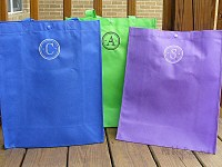 Grocery Bag - Reusable Tote - Bridesmaid Gift - Eco-friendly - Initial only-reusable tote, grocery bag, eco-friendly, polypropylene, custom, customized, personalized, initial, gift, bridesmaid, bride, beach, reusable grocery bag, gift wrap, bridesmaid gift, personalized gift wrap, beach bag, go green