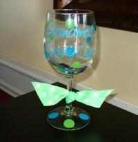 Grandma-Grammy-Nana's Sippy Cup - Custom Wine Glass-custom personalized sippy cup grandma polka dot wine glass vinyl wine