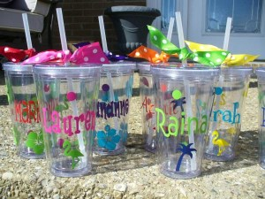 Summer Patterns - 16 oz. Acrylic Tumbler with Lid-custom, personalized acrylic, acrylic tumbler, summer, spring, bridesmaid gift, teachers gift, vinyl, pool party, birthday party, customized, summer patterns, acrylic tumbler with lid, 16 oz acrylic tumbler
