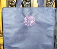 Reusable Grocery Bag - Personalized with Name, Monogram, School or Event-reusable tote, grocery bag, eco-friendly, polypropylene, custom, customized, personalized, initial, gift, bridesmaid, bride, beach, reusable grocery bag, gift wrap, bridesmaid gifts, personalized gift wrap, beach bag, go green