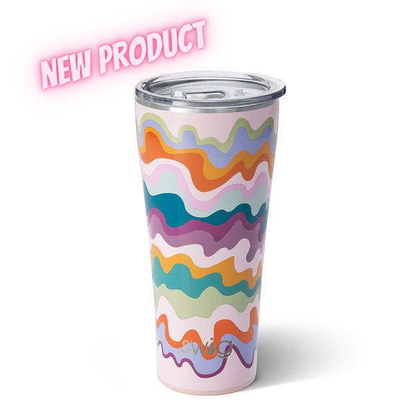 Swig Sand Art Tumbler-in swirls of soft matte colors reminiscent of sand art you did as a child at a festival