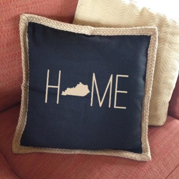 Jute Pillow Cover - Custom Personalized by You-jute pillow cover personalized jute pillow cover home state pillow cover journey is the destination journey pillow cover custom personalized jute cover black jute cream jute turquoise jute brown jute jute binding personalized pillow cover update your home