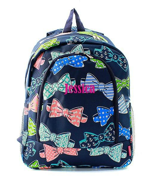 Monogram Bow Tie Backpack | Girls Back Pack | Bowtie Design | Back to School-monogram backpack, bow tie backpack, bowtie backpack, monogram bow tie backpack, back to school, girls backpack, girls retro backpack, girls monogram backpack, personalized, school backpack, custom backpack, personalized backpack, discount backpack, monogram bow tie backpack, girls back pack