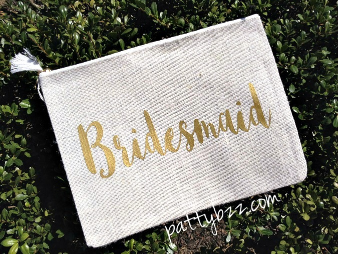 Bridesmaid Gift - Monogram Clutches - Cosmetic Bag - Monogram Gift-bride, bridesmaid, makeup bag, cosmetic bag, cases, clutch, clutch bags,monogram gift, monogram jute case, bikini bag, bikini case, jute clutch,monogram bridesmaid gift, personalized bag, monogrammed jute, personalized jute case, tablet case, iPad case, monogrammed clutch, bridesmaid gift, Bags, Purses, Cosmetic, Toiletry Storage, mud pie, monogram bridesmaid gift
