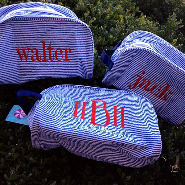 Monogram Traveler - Dopp Kit - Toiletry Bag - Personalized - Wedding Gift-oh mint traveler, custom, personalized, monogrammed, seersucker, school, kids gift, navy, pink, lime green, back to school, slumber parties, dopp kit, customized, seersucker gift, camo, monogram traveler by Mint, seersucker traveler, seersucker dopp kit, bride, bridesmaid, groomsman, wedding gift, monogram traveler, toiletry bag,