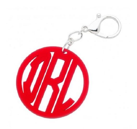 Monogram Acrylic Keychain-monogram, custom, personalized, keychain, key chain, gift, bridesmaid, monogrammed, valentines day,mothers day, christmas, birthday
