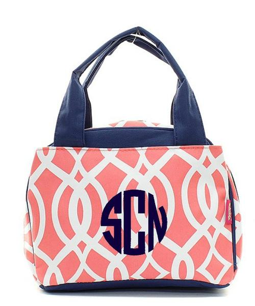Monogram Vine Lunchbox | Insulated Lunch Bag | Back to School | Coral-monogram vine lunchbox, coral vine lunch bag, vine lunch box, monogram vine lunch tote, back to school, girls lunch bag, girls monogram lunchbox, personalized, school backpack, custom backpack, personalized backpack, discount backpack, monogram vine lunch bag, girls lunchbox, insulated lunchbox