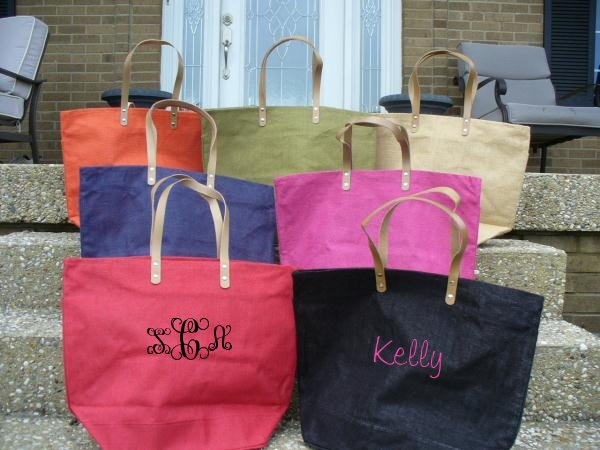 Monogram Tote - Monogram Handbag - Bridesmaid Gift - Custom Tote-monogram tote, custom tote, monogrammed tote bag, bridesmaid gift, Christmas, wedding gift, beach bag, monogram purse, bridesmaid, purse, book bag, bag, tote, market tote, monogram bag, market tote, monogram handbag, tote, grocery bag