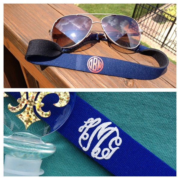 Monogram Sunglass Strap-monogram sunglass strap, croakie, sunglass croakie, sunglass strap, bride, groom, wedding party, wedding gift, family reunion, family outing, school outing, school, customized, personalized, neoprene croakies, eyeglass strap, custom, monogrammed