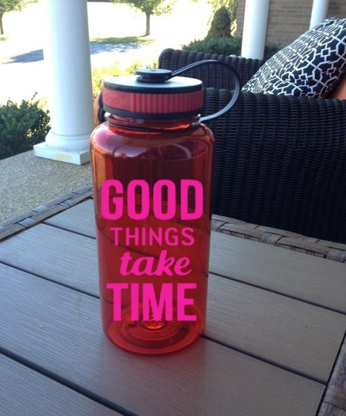 Good Things Take Time - 34 oz Motivational Water Bottle - Wide Mouth Water Bottle - Gym Water Bottle-Drink, Barware, Drinkware, Tumblers, Water Glasses, personalized, gift, teacher gift, tumblers, birthday, motivational tumbler, wide mouth Water bottle, tritan water bottle, gym water bottle, 34 oz motivational water bottle, motivational bottle, water bottle, good things take time