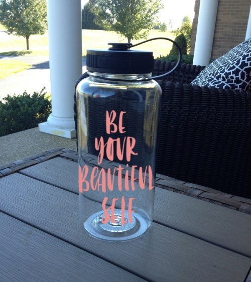 Be Your Beautiful Self - 34 oz Motivational Water Bottle - Wide Mouth Water Bottle - Gym Water Bottle-Drink,  Barware, Drinkware, Tumblers, Water Glasses, personalized, gift, teacher gift, tumblers, birthday, motivational tumbler, wide mouth Water bottle, tritan water bottle, gym water bottle, 34 oz motivational water bottle, motivational bottle water bottle, be your beautiful self