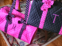 Quilted Duffle Bag - Monogram Gym Bag - Cheer Bag-quilted duffle bag, monogrammed duffle, quilted duffle, custom, personalized, monogram, quilted bag, monogram gym bag, cheer bag, ballet bag, cheer practice
