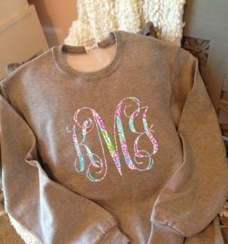 Sweatshirt - Monogram Sweatshirt - Sweat Shirt - Monogram Pullover-sweatshirt, monogram sweatshirt, monogram lilly pulitzer sweatshirt, Monogram Crewneck Sweatshirt, sweat shirt, monogram pullover, interlocking, script, empire, block, monogram gift