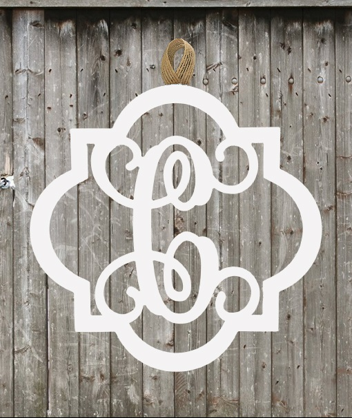 Quatrefoil Wood Monogram - New Home Sign - Welcome Sign - Wedding Gift-wood monogram hanger, wood design, single initial wood monogram, monogram, single initial, pattybzz, personalized wood, Home Living, Home Decor, Ornaments, Accents, dorm room, monogram door hanger, door hanger painted monogram, wedding, wedding gift, wood monogram, monogram, initial door hanger, wood monograms, Wedding monogram, new home sign, welcome sign, wedding gift, quatrefoil wood monogram